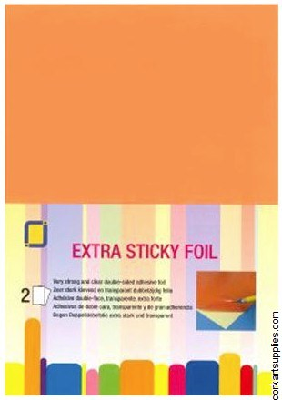A4 Sticky D/S Film Clear 2pk