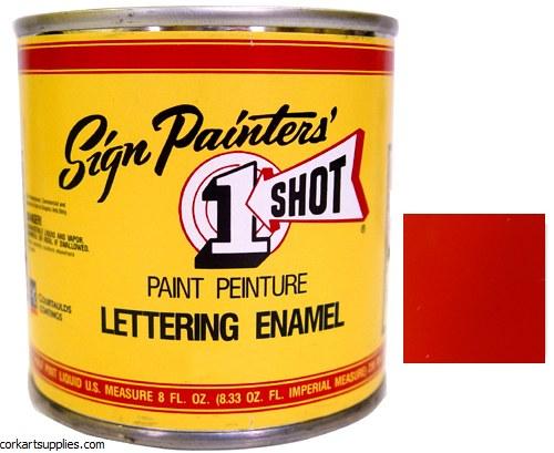 1 Shot Enamel Fire Red