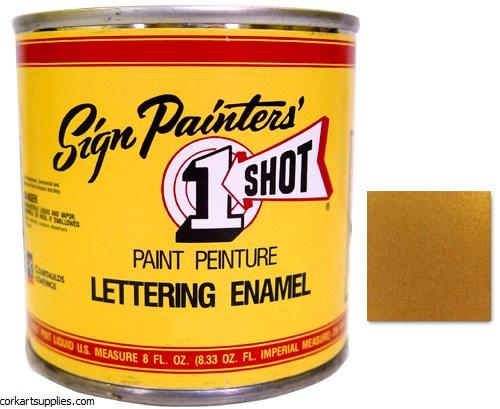 1 Shot Enamel Metallic Gold^
