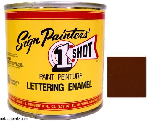 1 Shot Enamel Medium Brown
