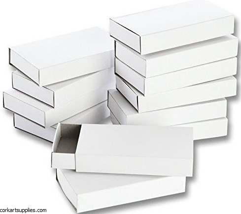 Match Boxes White Large 12pk
