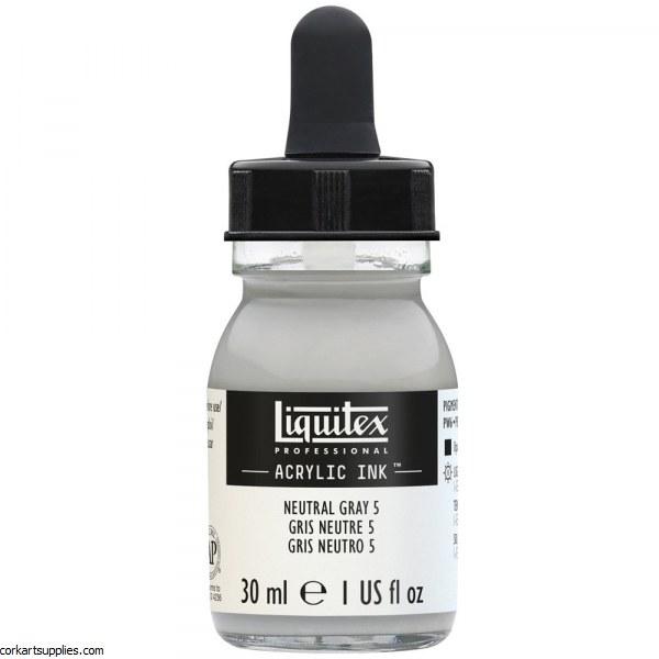 Liquitex Ink 30ml Neutral Grey 5