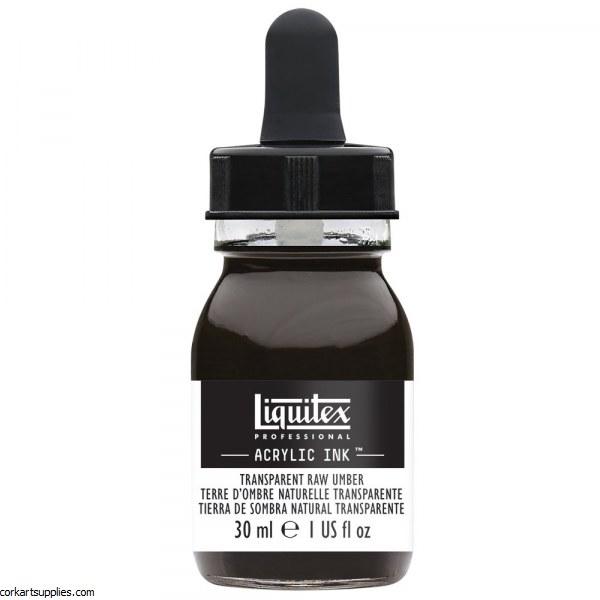 Liquitex Ink 30ml Transparent Raw Umber