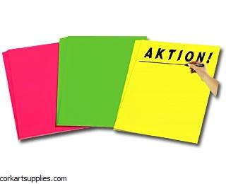 Fluorescent Card 51x63cm Yellow