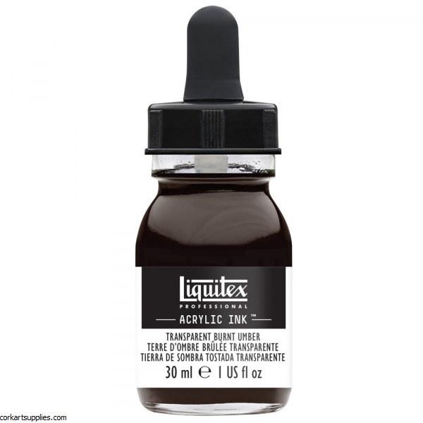 Liquitex Ink 30ml Transparent Burnt Umber