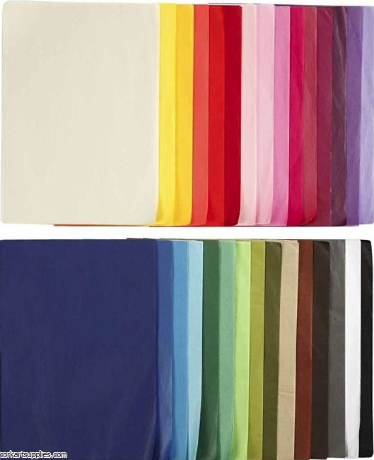 Tissue Paper A4 Asst 300pk 10 of each Shade