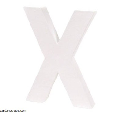 Decopatch Letter X Height 12cm