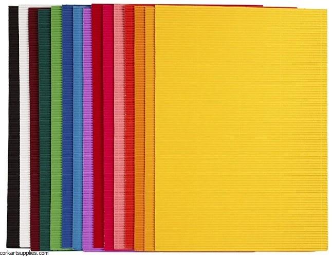 Corrugated Card Asst A4+ 15pk
