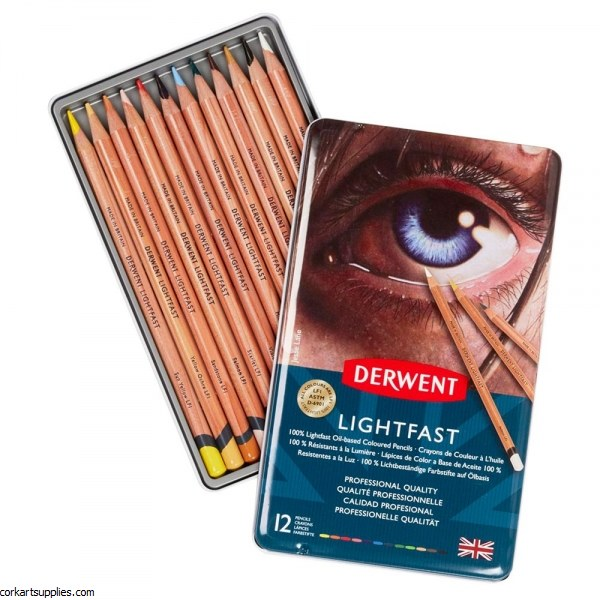 Derwent Lightfast Tin 12pk