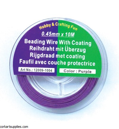Tiger Tail Wire Beading Wire 10 Metre Roll Purple