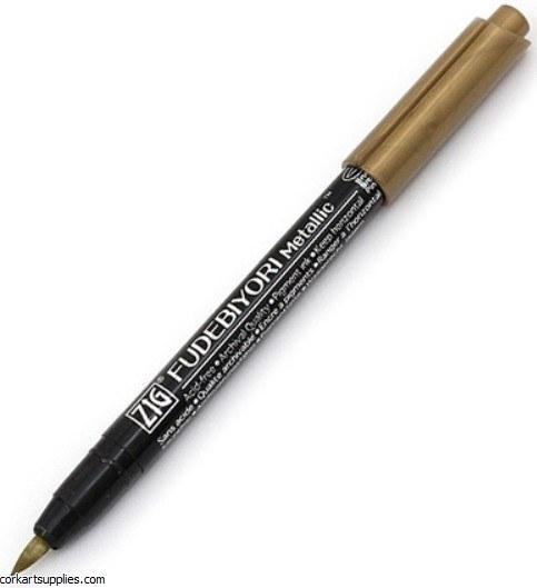 Kuretake Fudebiyori Brush Pen Gold 101