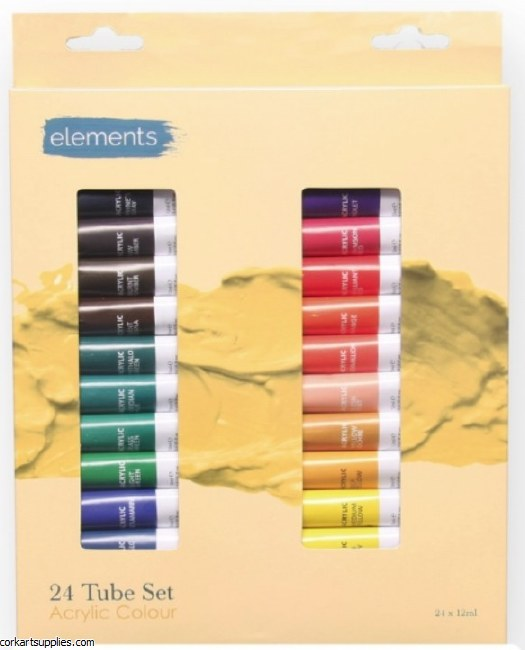 Elements Acrylic 12ml 24pk