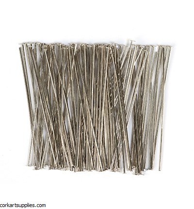 Head Pins 100pk Platinum 45mm