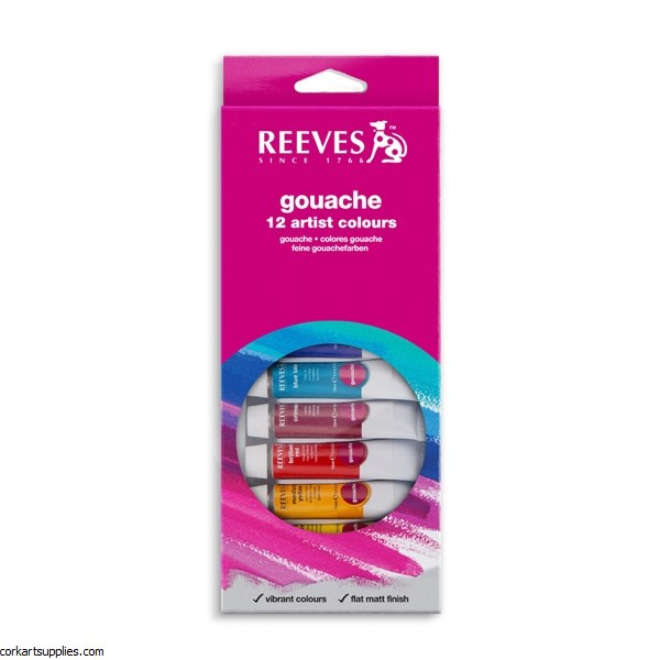 Reeves 10ml Asst Gouache 12pk