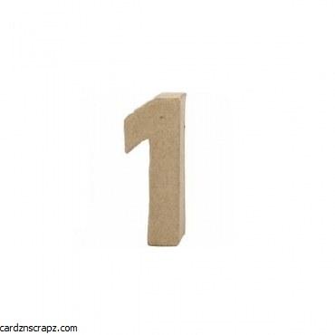 Papier Mache Number 1 10cm