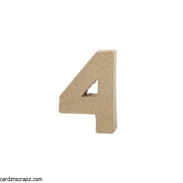 Papier Mache Number 4 10cm