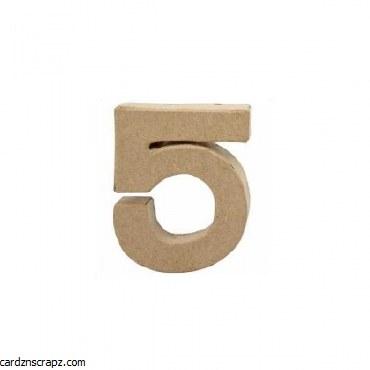 Papier Mache Number 5 10cm