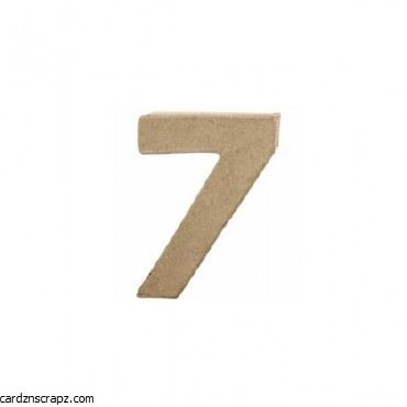 Papier Mache Number 7 10cm