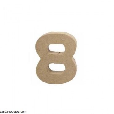 Papier Mache Number 8 10cm