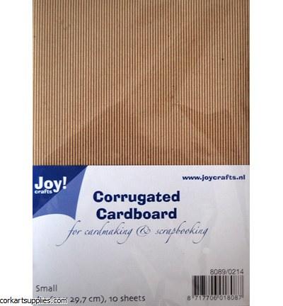 Corrugated Card Kraft A4 Small 10pk
