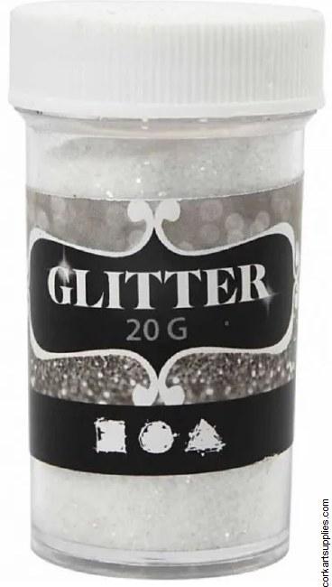 Glitter Ex.Fine 20g White
