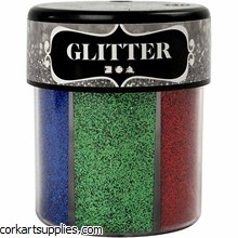 Glitter 50gm 6 col in 1 Shaker