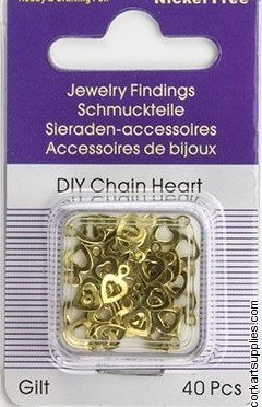 Jewellery Charms Hearts 40pk
