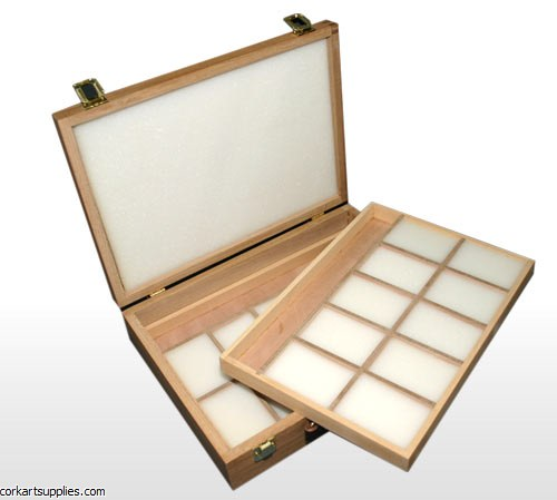 Pastel Wooden Storage Box 2 Tray