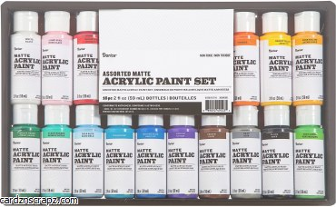 Darice Acrylic 59ml Mat 16 Colour Value Pack