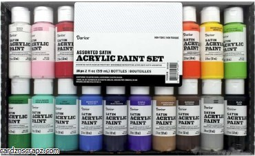 Darice Acrylic 59ml Satin 16 Colour Value Pack