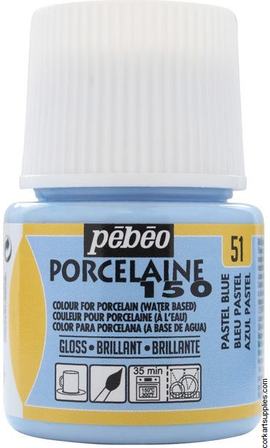Porcelaine 150 45ml Pastel Blu