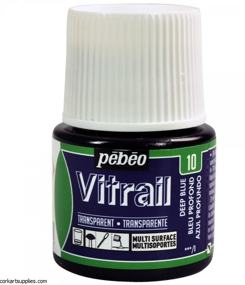 Vitrail 45ml Transparent 10 Deep Blue