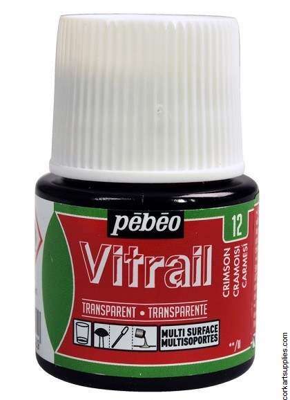 Vitrail 45ml Transparent 12 Red Crimson