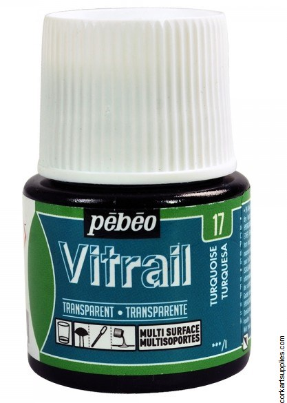 Vitrail 45ml Transparent 17 Tuquoise