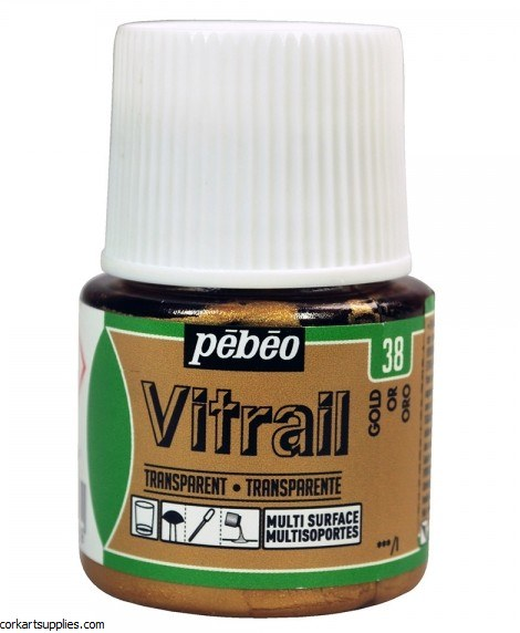 Vitrail 45ml Transparent 38 Gold
