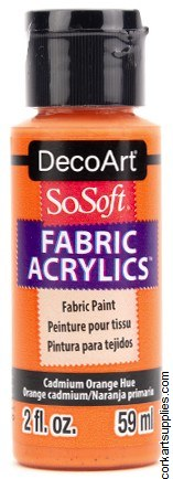 DecoArt SoSoft 59ml Orange Cadmium