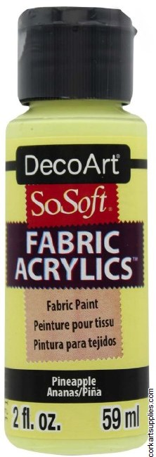 DecoArt SoSoft 59ml Yellow Pineapple
