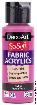 DecoArt SoSoft 59ml Pink Fushsia