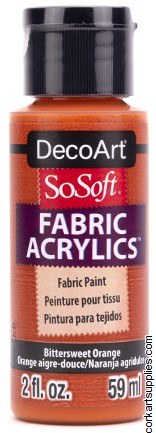 DecoArt SoSoft 59ml Orange Bittersweet