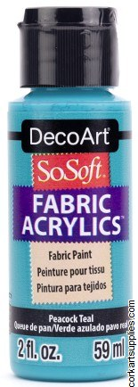 DecoArt SoSoft 59ml Teal Peacock