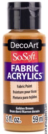 DecoArt SoSoft 59ml Brown Golden