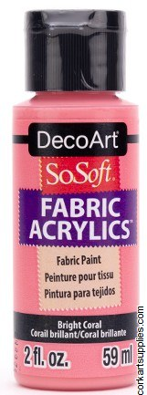 DecoArt SoSoft 59ml Pink Bright Coral