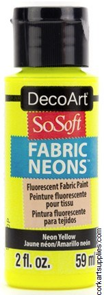 DecoArt SoSoft 59ml Yellow Fluorescent