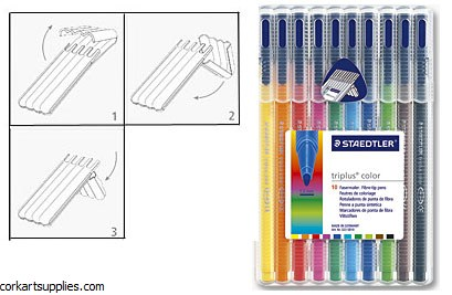 Staedtler Triplus Color Marker 1mm Set 10pk