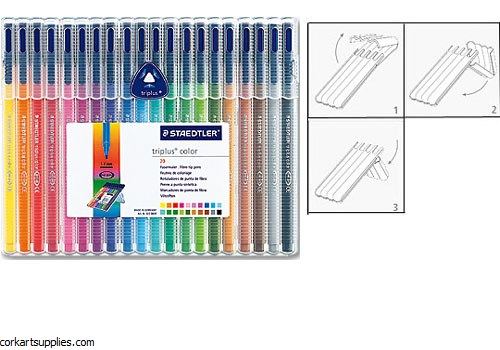 Staedtler Triplus Color Marker 1mm Set 20pk