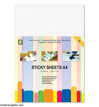 A4 Sticky D/S Film Clear 5pk