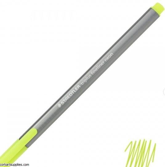 Staedtler Triplus Fineliner Marker 0.3mm Neon Yellow