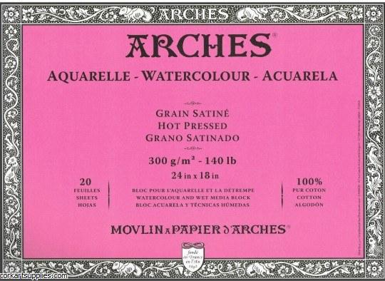 Arches Block 140lb HP 46x61cm/24x18