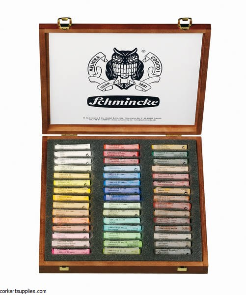 Schmincke Pastel 45 Set Wood Box
