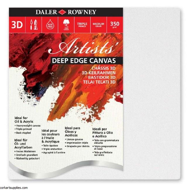 Canvas 3D Daler Rowney 100x100cm / 40x40